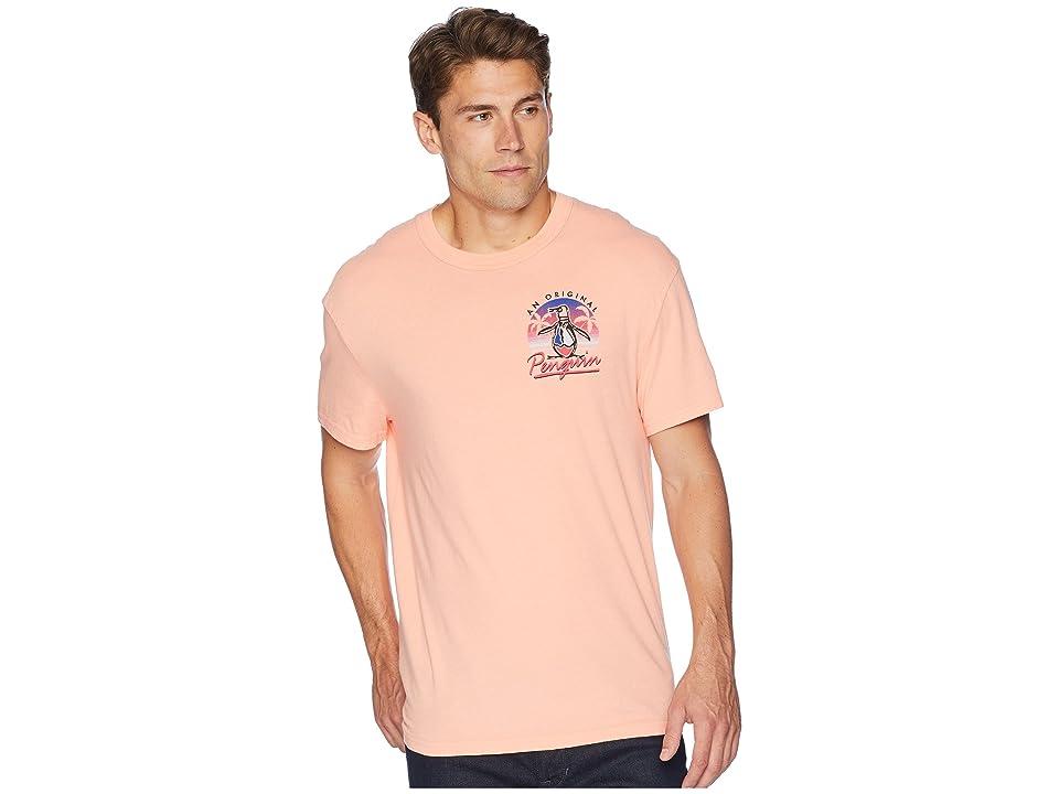 Original Penguin 90s Sunset Pete T-Shirt (Peach Amber) Men's T Shirt