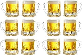Circleware Roadhouse Mini Beer Mug Shot Glasses with Handles (Roadhouse - Set of 12)