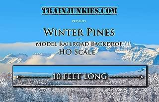 Train Junkies Winter Pines- Model Railroad Backdrop in HO Scale