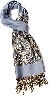 Alice Blake Premium Metallic Paisley Pashmina Scarf Shawl Wrap w/FREE Gift Box