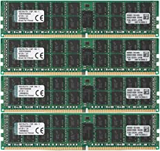 Kingston Technology 64GB RAM Kit (4x16GB) 2133MHz DDR4 ECC Reg CL15 DIMM DR x 4 with TS Server Memory (KVR21R15D4K4/64)