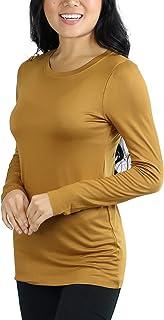 ToBeInStyle Women's Basic Crew Neck Long Sleeve Tee