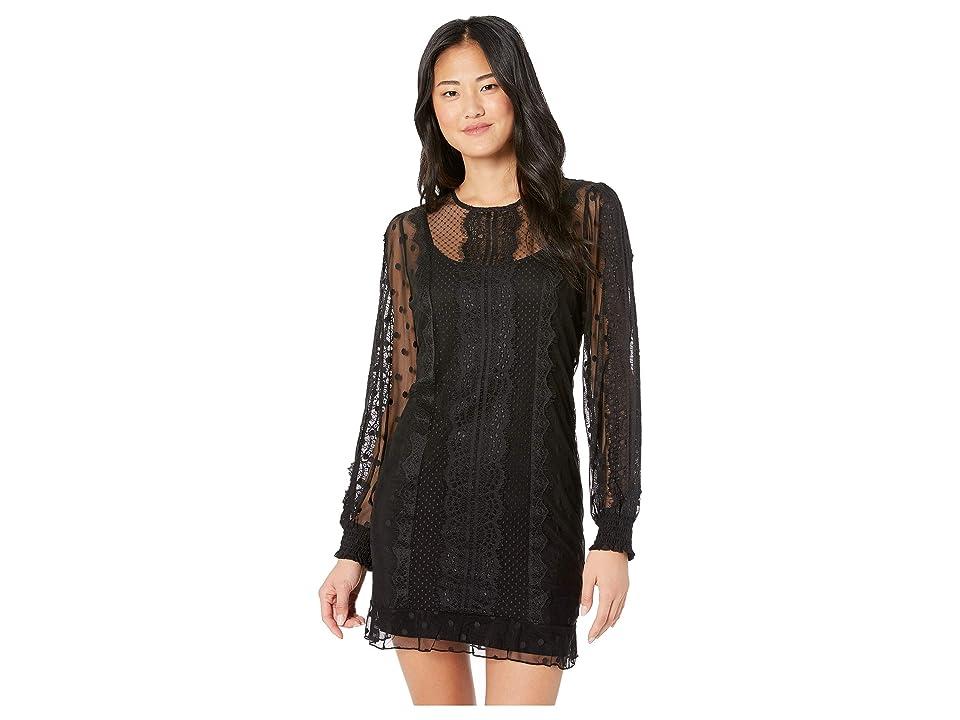 MINKPINK Layla Lace Dress (Black) Women