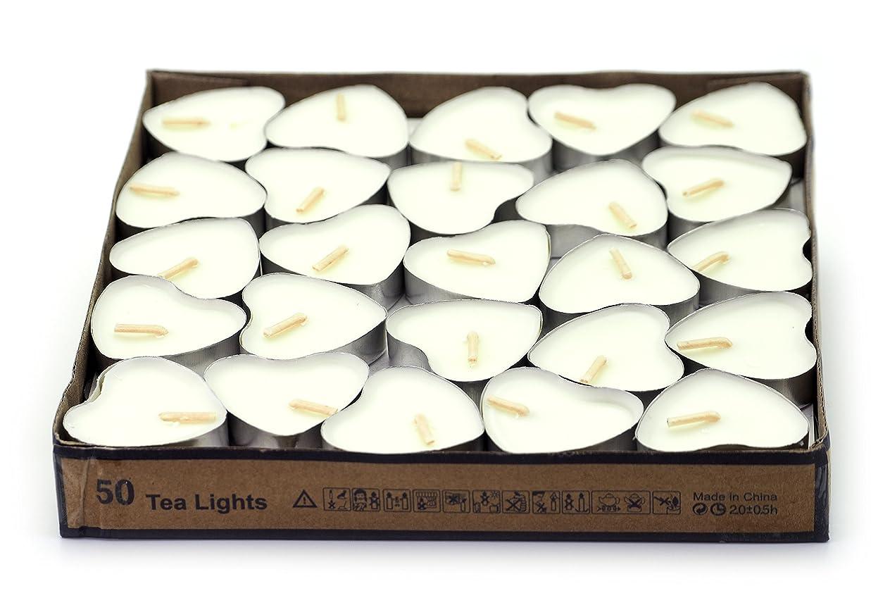 スキル操る教養がある(White(jasmine)) - Creationtop Scented Candles Tea Lights Mini Hearts Home Decor Aroma Candles Set of 50 pcs mini candles (White(Jasmine))