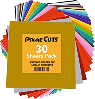 Permanent Adhesive Backed Vinyl Sheets by PrimeCuts USA - 30 Vinyl Sheets 12