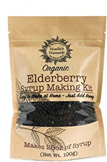 Organic Elderberry Syrup Kit - Makes 20oz of Syrup - DIY - Natural Immune Support - Elderberries - Ginger - Cloves - Cinnamon Sticks - Organic Spices