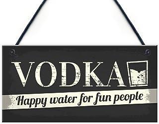 XLD Store Vodka Novelty Sign Funny Friendship Alcohol Man Cave Bar Pub Hanging Plaque Gift for Men