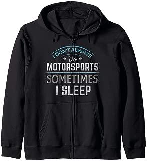 Motorsports Motocross Stock Car Banger Racing Speedway  Zip Hoodie