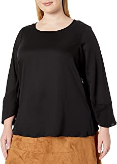 City Chic Women's Apparel Women's Plus Size Top with Split Detail Sleeve