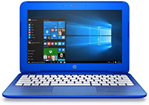 (Discontinued) HP Stream 11-r010nr 11.6-Inch Notebook (Intel Celeron Processor, 2GB RAM, 32 GB Hard Drive, Windows 10 Home 64- Bit), Cobalt Blue