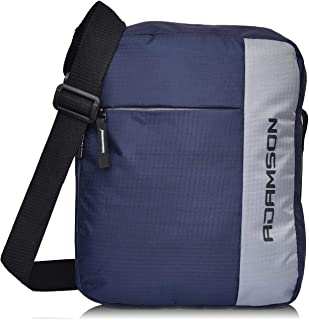 Adamson Men's and Women's Polyester Side Bag (Blue and Grey)