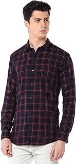 Men Cotton Casual Broad Check Shirt