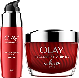 Olay Serum Regenerist Microsculpting√Ǭ† Serum, 50 ml and Olay Regenerist Whip Day Cream UV SPF 30 , 50g