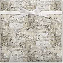 Birch Jumbo Rolled Gift Wrap - 1 Giant Roll, 23 Inches Wide by 35 feet Long, Heavyweight, Tear-Resistant, Holiday Wrapping Paper