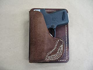 Kimber Micro 9mm Inside the Pocket Leather Concealment Handgun WALLET Holster CCW RH BROWN