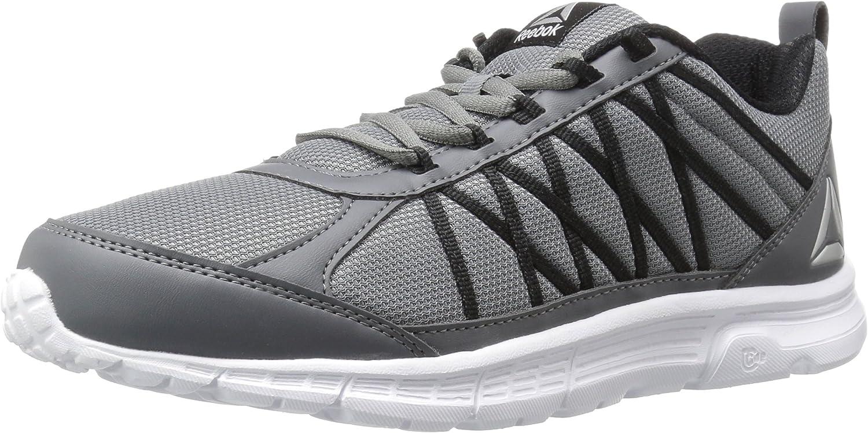 Reebok Men's Speedlux 2.0 Sneaker, Alloy Black White Silver, 10 M US