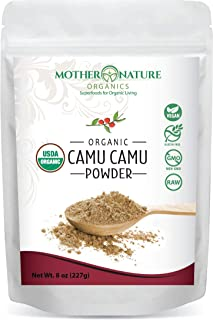 Mother Nature Organics Superfoods for Organic Living Camu Camu Powder, 8 oz