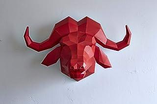 OBJECTS PAPER CRAFT(オブジェクツ ペーパークラフト) 作って飾れる大人のペーパークラフト MASK-06 ウシ 3083106