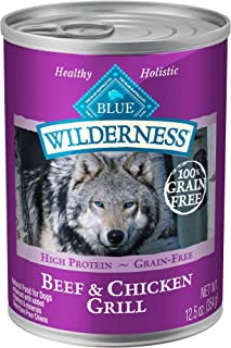 Blue Buffalo Wilderness High Protein Grain Free, Natural Adult Wet Dog Food, 12.5-oz cans..