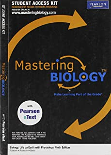 MasteringBiology with Pearson eText Student Access Code Card for Biology: Life on Earth with Physiology (ME component)