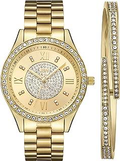 JBW Women's J6303-Set Mondrian Luxury Jewelry Stainless Steel Gold Rose Gold Diamond Watch Bracelet Sets