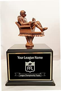 Armchair Quarterback Fantasy Football 18 Year Perpetual Trophy - Click to Customize!