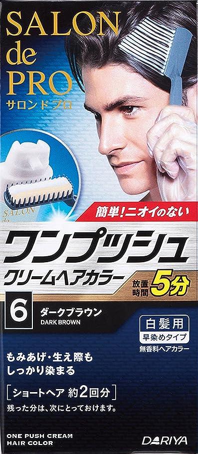 思慮深いチャールズキージングレプリカサロンドプロ ワンプッシュクリームヘアカラーメンズスピーディ 6 ダークブラウン 40g+40g