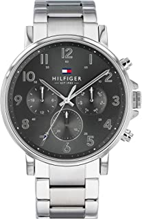 Men's Quartz Watch with Stainless Steel Strap, Silver, 12.6 (Model: 1710382)