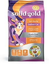 Solid Gold - Let's Stay In - Grain-Free - Indoor Formula Dry Cat Food with Superfoods - Hairball Control - Protected Probiotic Blends - Holistic Food For Adult Cats