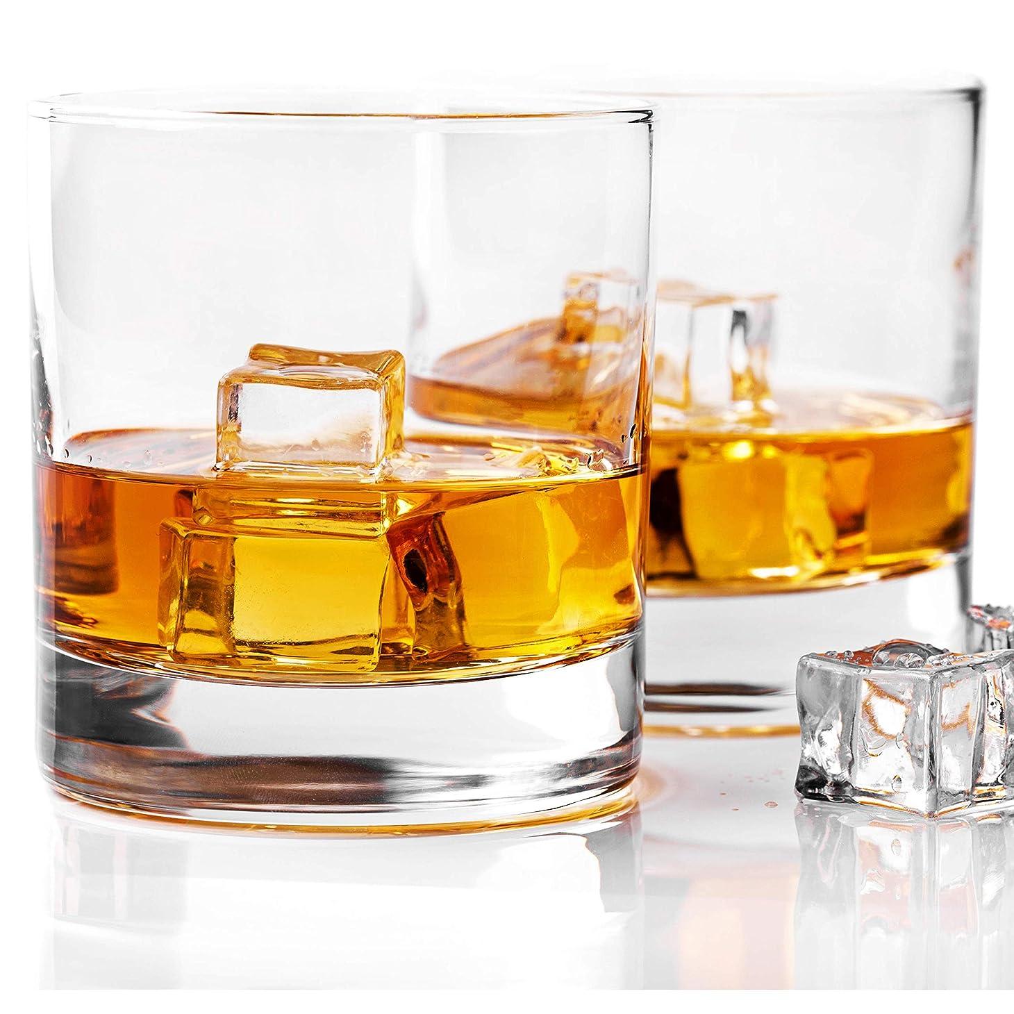 人質インテリアキャッチTaylor'd Milestones グラスウェア社製 ウィスキーグラス プレミアム 10オンス?スコッチグラス ロックスタイルのグラス2個セット バーボンやオールドスタイルカクテルにも