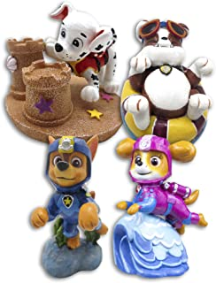 Penn Plax Paw Patrol (Officially Licensed) Mini Aquarium Ornaments 4Piece Gift Set