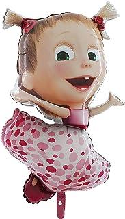 "Toyland 40"" Masha & The Bear - Dancing Masha Pink Foil Balloon - Birthday Party Decoration"