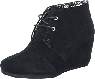 Womens Desert Wedge Boot Black Suede Size 9.5