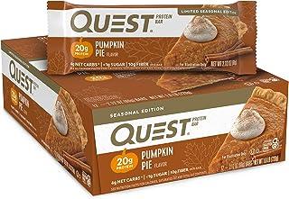 Quest Nutrition Pumpkin Pie Protein Bar, High Protein, Low Carb, Gluten Free, Keto Friendly, 12 Count