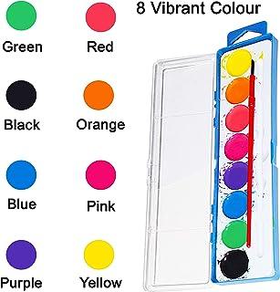 Set de Pintura de Acuarela - 36 Piezas con 8 Colores Vinrantes y Pinceles- Pack