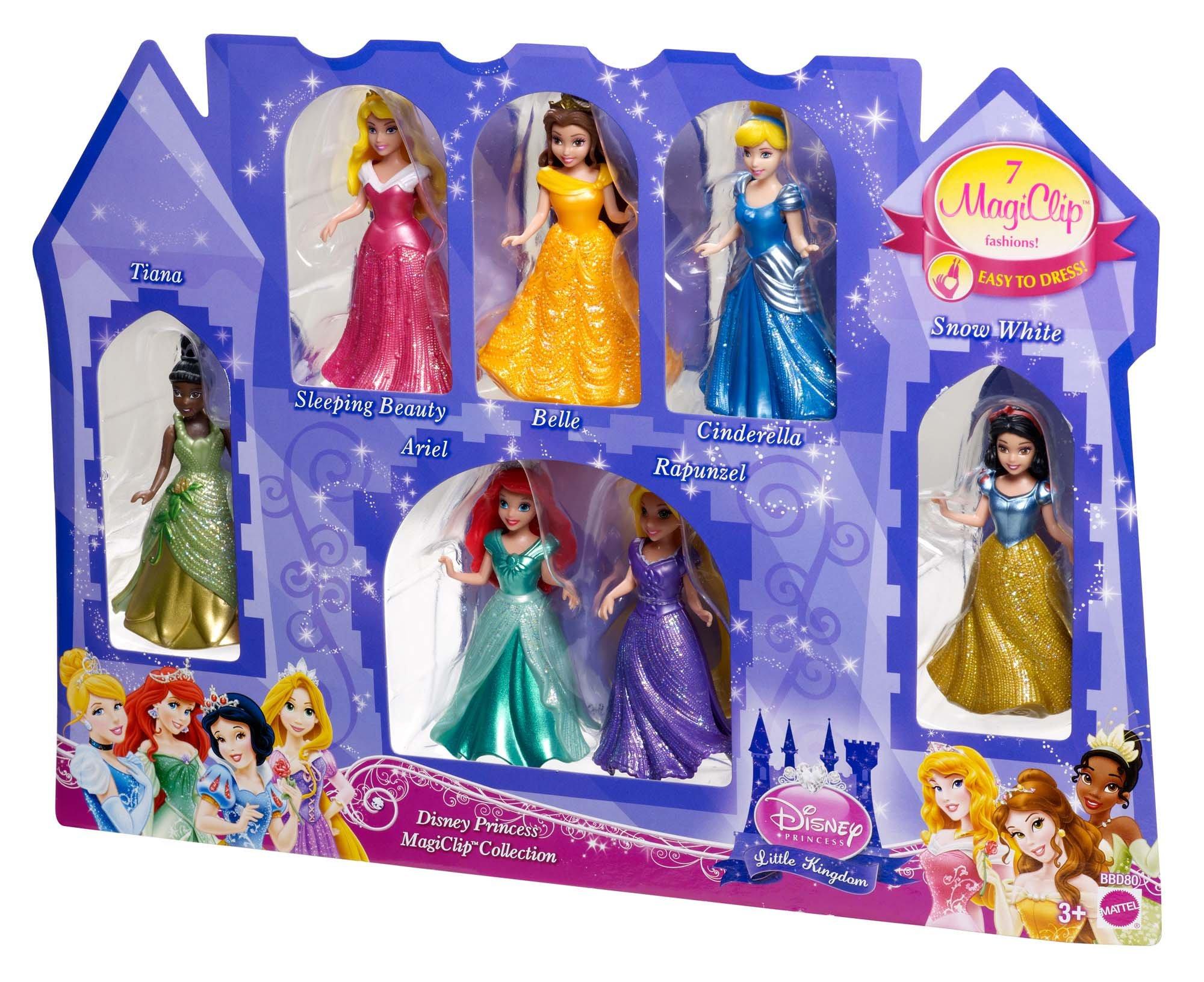 Mattel Disney Princess Little Kingdom Magiclip 7 Doll Gift Set