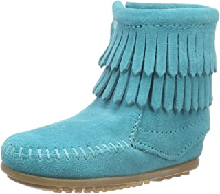 Minnetonka Kids Unisex Double Fringe Side Zip Boot (Toddler/Little Kid/Big Kid)