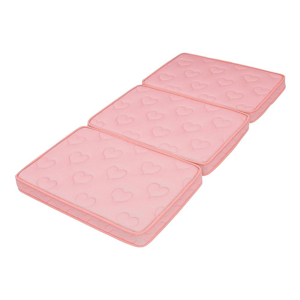 司教アトム雪三分割マットレス ポケットコイル シングル ゆめみっち 薄型 厚さ9cm (ピンク)