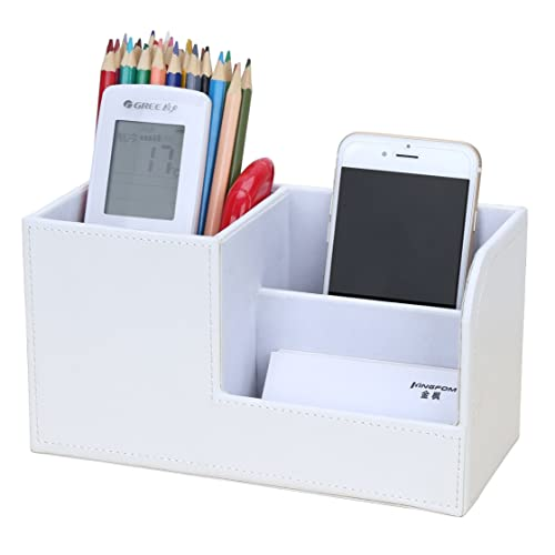 Search For Flights Multifunctional Office Desktop Decor Storage Box Leather Stationery Organizer Pen Pencils Remote Control Mobile Phone Holder Desk Accessories & Organizer Office & School Supplies
