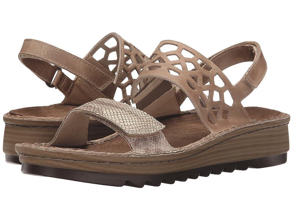 Naot Acacia (Beige Snake Leather/Khaki Beige Leather) Women