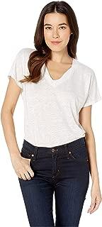 Women's Linen V-Neck T-Shirt