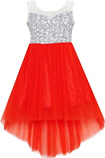 red sequin girls dress