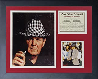 """Legends Never Die """"Paul 'Bear' Bryant Hat Framed Photo Collage, 11 x 14-Inch"""