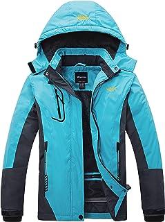 Skieer Femme Veste de Snowboard Imperm/éable Veste de dhiver Veste Coupe-Vent de Montagne Manteau Polaire /à Capuche Imperm/éable Manteau dExt/érieur Chaud