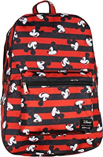 Disney Mickey Mouse Backpack Stripes Print