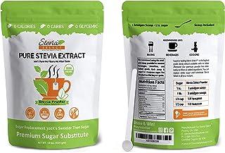 Stevia powder (1LB) Stevia Select Pure Stevia Extract-Bulk Stevia Organic, Kosher, Non-GMO Certified- Best tasting Availab...