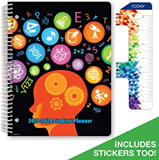 Dated Middle School or High School Student Planner for Academic Year 2019-2020 (Matrix Style - 8.5