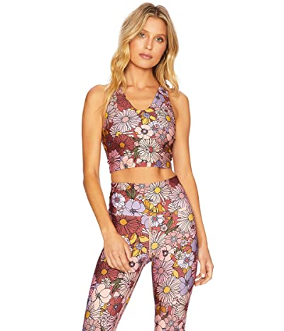 Beach Riot Ruby Top (Marsala Floral) Women