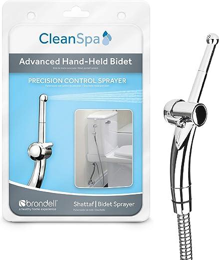 Brondell Hand Held Bidet Sprayer for Toilet CleanSpa Advanced Bidet Attachment with Precision Pressure Control Jet Spray - Ergonomic Handheld Bidet for Toilet - Toilet Water Sprayer and Hose Set