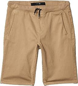 Knit Color Denim Shorts (Big Kids)